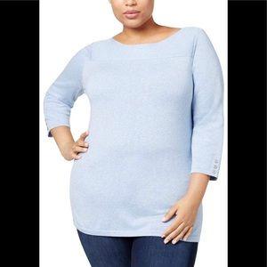 Karen Scott Plus Size Boat Neck Sweater Size 2X